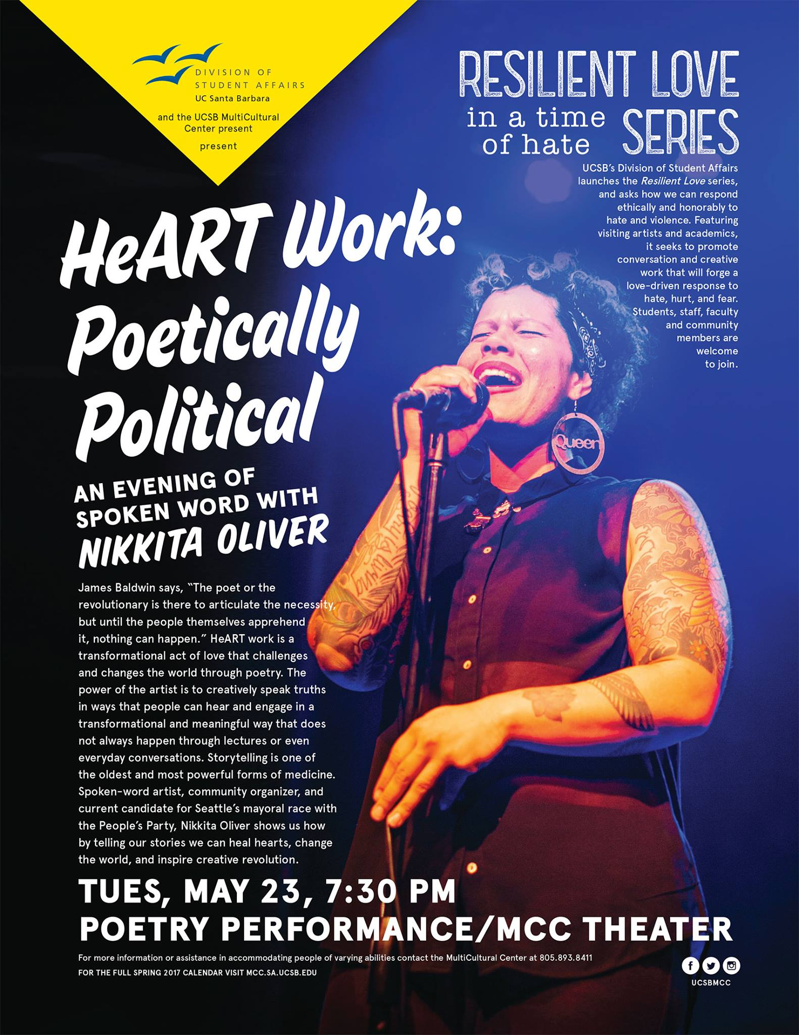 HeART Work: Poetically Political Spoken Word with Nikkita Oliver